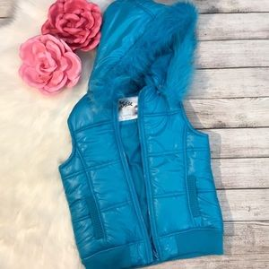 Justice blue puffer vest size 12